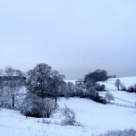 Reitstall im Schnee Winter
